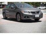 2015 Modern Steel Metallic Honda Civic EX-L Sedan #114409367