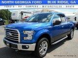 2016 Blue Flame Ford F150 XLT SuperCab 4x4 #114442815