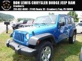 2016 Hydro Blue Pearl Jeep Wrangler Unlimited Sport 4x4 #114461873