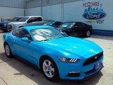 2017 Grabber Blue Ford Mustang V6 Coupe #114517709