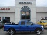 2007 Electric Blue Pearl Dodge Ram 1500 Big Horn Edition Quad Cab 4x4 #11408418