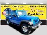 2016 Hydro Blue Pearl Jeep Wrangler Unlimited Sport 4x4 #114517609