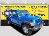 2016 Hydro Blue Pearl Jeep Wrangler Unlimited Sport 4x4 #114517604