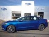 2017 Lightning Blue Ford Fusion Titanium AWD #114571411