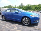 2017 Lightning Blue Ford Fusion SE #114623925