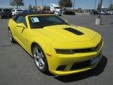 2015 Bright Yellow Chevrolet Camaro SS/RS Convertible #114624044