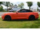 2015 Competition Orange Ford Mustang EcoBoost Premium Convertible #114691515