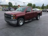 2014 Deep Ruby Metallic Chevrolet Silverado 1500 WT Regular Cab #114716757
