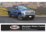 2016 Blazing Blue Pearl Toyota Tundra SR5 CrewMax 4x4 #114716483