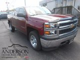2014 Deep Ruby Metallic Chevrolet Silverado 1500 WT Double Cab 4x4 #114816029
