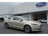 2017 White Gold Ford Fusion Titanium #114837752