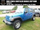 2016 Hydro Blue Pearl Jeep Wrangler Unlimited Sport 4x4 RHD #114837707