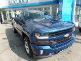 2017 Deep Ocean Blue Metallic Chevrolet Silverado 1500 LT Crew Cab 4x4 #114887453