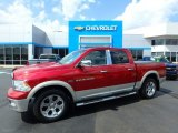 2010 Inferno Red Crystal Pearl Dodge Ram 1500 Laramie Crew Cab 4x4 #114901510