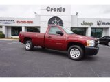 2013 Deep Ruby Metallic Chevrolet Silverado 1500 Work Truck Regular Cab #114922617