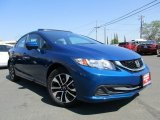 2015 Dyno Blue Pearl Honda Civic EX Sedan #114975715