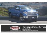 2016 Blazing Blue Pearl Toyota Tundra Limited Double Cab 4x4 #115001689