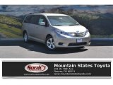 2016 Creme Brulee Mica Toyota Sienna LE #115001679