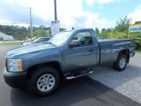 2008 Blue Granite Metallic Chevrolet Silverado 1500 Work Truck Regular Cab 4x4 #115067733