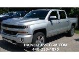 2017 Silver Ice Metallic Chevrolet Silverado 1500 LT Crew Cab 4x4 #115128449