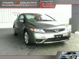 2006 Galaxy Gray Metallic Honda Civic LX Coupe #11506108