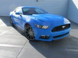 2017 Grabber Blue Ford Mustang Ecoboost Coupe #115164567