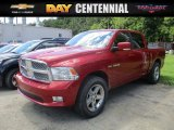 2009 Inferno Red Crystal Pearl Dodge Ram 1500 ST Crew Cab 4x4 #115230510