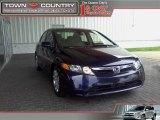 2007 Royal Blue Pearl Honda Civic LX Sedan #11506191