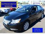 2014 Super Black Nissan Sentra S #115250936