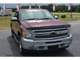2013 Deep Ruby Metallic Chevrolet Silverado 1500 LT Crew Cab #115350370