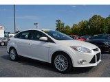 2012 White Platinum Tricoat Metallic Ford Focus SEL Sedan #115370705