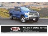 2016 Blazing Blue Pearl Toyota Tundra SR5 CrewMax 4x4 #115370466