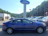 2015 Deep Impact Blue Metallic Ford Fusion SE #115421422