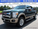 2012 Green Gem Metallic Ford F250 Super Duty King Ranch Crew Cab 4x4 #115421108