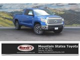 2016 Blazing Blue Pearl Toyota Tundra Limited Double Cab 4x4 #115449774