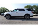 Oxford White Ford Explorer in 2017