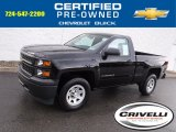 2014 Black Chevrolet Silverado 1500 WT Regular Cab 4x4 #115535598