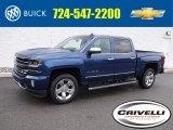 2017 Deep Ocean Blue Metallic Chevrolet Silverado 1500 LTZ Crew Cab 4x4 #115535596
