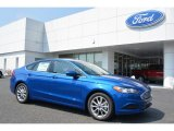 2017 Lightning Blue Ford Fusion SE #115590988
