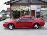 2001 Laser Red Metallic Ford Mustang V6 Coupe #11547440