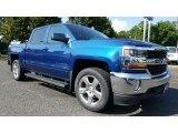 2017 Deep Ocean Blue Metallic Chevrolet Silverado 1500 LT Crew Cab 4x4 #115590862