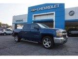 2017 Deep Ocean Blue Metallic Chevrolet Silverado 1500 LT Crew Cab #115591105
