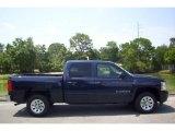 2009 Imperial Blue Metallic Chevrolet Silverado 1500 LS Crew Cab #11549224