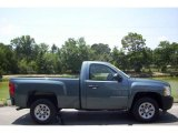 2008 Blue Granite Metallic Chevrolet Silverado 1500 Work Truck Regular Cab #11549198
