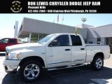2008 Cool Vanilla White Dodge Ram 1500 SLT Quad Cab 4x4 #115637973