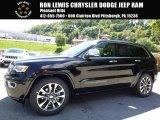 2017 Diamond Black Crystal Pearl Jeep Grand Cherokee Overland 4x4 #115637970