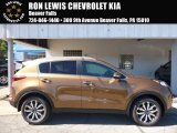 2017 Burnished Copper Kia Sportage EX AWD #115661817