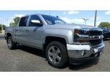 2017 Silver Ice Metallic Chevrolet Silverado 1500 LT Crew Cab 4x4 #115720450