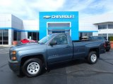 2014 Blue Granite Metallic Chevrolet Silverado 1500 WT Regular Cab #115720656