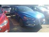 2017 Lightning Blue Ford Fusion Titanium #115759411